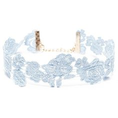 Forever21 Floral Crochet Choker ($3.43) ❤ liked on Polyvore featuring jewelry, necklaces, blue, forever 21 choker, steel chokers, blue jewellery, forever 21 necklaces and blue choker
