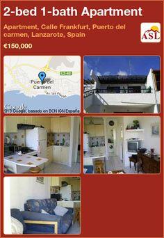 2-bed 1-bath Apartment in Apartment, Calle Frankfurt, Puerto del carmen, Lanzarote, Spain ►€150,000 #PropertyForSaleInSpain