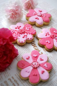 Flowers valentine cookies