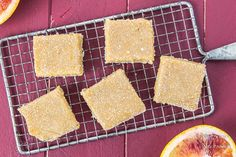 Blood Orange Bars {with Bourbon Vanilla Bean} - No Spoon Necessary