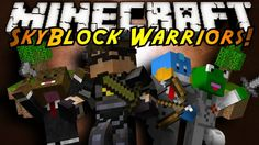Watch this EPIC minecraft battle in the sky! Skyblock Warriors.