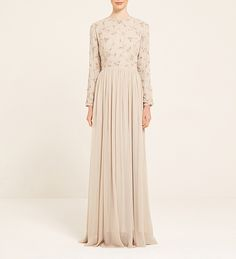 Vintage Cream Embroidered Dress - £300.00 : Inayah, Islamic Clothing & Fashion, Abayas, Jilbabs, Hijabs, Jalabiyas & Hijab Pins