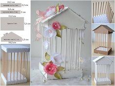 Faça sua casinha de passarinho com palitos e isopor... http://minhacasinharosa.blogspot.com.br/2013/07/faca-voce-mesmo-uma-mini-gaiola-para.html