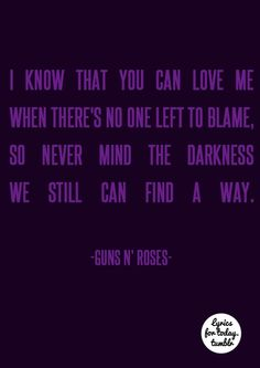 Cause nothing lasts forever, even cold november rain - guns and roses