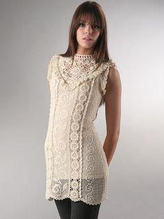 Sobresaliente Crochet: túnica de ganchillo de Mattie.