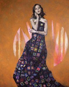 Ingebjorg Stoyva, Bestemors teppe II, 2018, GALLERI RAMFJORD Artsy, Disney Princess, Canvas, Artwork, Miami, Painting, Tela, Work Of Art, Painting Art