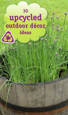 30 Upcycled Outdoor Decor Ideas