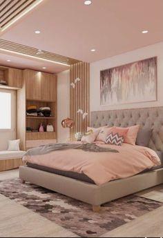Simple Bedroom Design, Room Design Bedroom, Girl Bedroom Designs, Room Ideas Bedroom, Home Room Design, Bedroom Colors, Home Decor Bedroom, Girls Bedroom, Childrens Bedroom