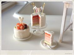 Reserved for khmini  White Wedding Cakes  by 2smartminiatures