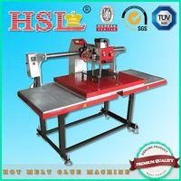 Horizontal double steel plate rhinestone transfer machine for clothing