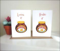 Love it or Hate it Marmite jar illustrated by KatyPillingerDesigns