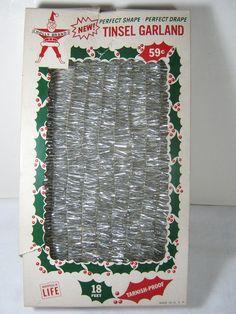 Vintage CHRISTMAS GARLAND Retro 60s Holiday Decor NIB Never Used!  by LavenderGardenCottag