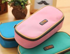 1 PC Kawaii Super-Large-Capacity Multi-functional Nylon Pencil Bag& Pencil Case for School Stationery & Office, WJD00018