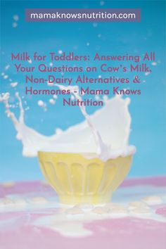 Milk is an awesome source of protein, fat, vitamin D, and calcium, but it's not the only way toddlers can get those nutrients. If your little one doesn't drink cow's milk, you'll just want to find other sources of those same nutrients that they like to eat (or drink). Toddler Nutrition, Registered Dietitian Nutritionist, Calcium Rich Foods, Milk Alternatives, Iron Rich Foods, Yogurt Cups, Healthy Teeth, Protein Sources, Healthy Meals For Kids