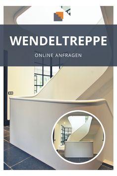 Deine Wendeltreppe soll genau so aussehen oder ganz anders? Wir fertigen Deine individuelle Treppe auf Maß an! Schick uns einfach einen Screenshot oder Deine Vorstellungen unverbindlich per Mail! #HandlaufMeyer #Wendeltreppe #TreppenhausGestalten #TreppenIdeen Spiral Stair, Architecture Interior Design, Chic, Craft Work, Simple