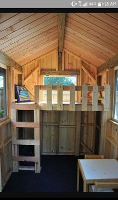 Inside a tree house kids treehouse ideas Inside a tree house kids treehous. Inside a tree house kids treehouse ideas Inside a tree house kids treehouse ideas Kids Playhouse Plans, Pallet Playhouse, Backyard Playhouse, Build A Playhouse, Pallet Patio, Kids Outside Playhouse, Simple Playhouse, Playhouse Interior, Childrens Playhouse