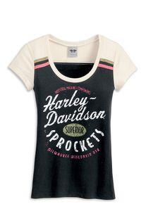 Harley-Davidson® Women's Knit Colorblock Shirt - 96020-13VW