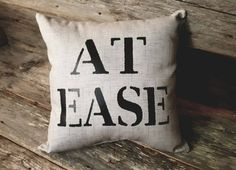 At Ease Pillow Military Retirement Military Family Gift Army Retirement Army Pillow Military Pillow Veteran Gift Soldier Gift Boys Army Bedroom, Military Bedroom, Military Home Decor, Army Decor, Army Room, Military Retirement, Retirement Gifts, Army Gifts, Gifts For Veterans