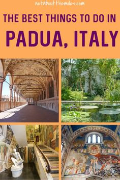Discover the best things to do in Padua in Northern Italy! From the Scrovegni Chapel to Palazzo Bo and the Basilica of Saint Anthony to the Botanical Garden, there is a lot to see and do in Padua. Easy day trip from Venice or Verona. Italy Travel Tips, Europe Travel Guide, Traveling Tips, Travelling, Beautiful Villas, Beautiful Places, Amazing Destinations, Travel Destinations, Travel Around The World