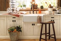 love these storage ideas and country look