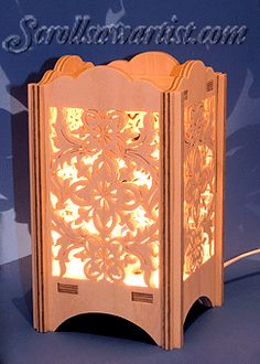 Scroll Saw Patterns :: Lighted projects :: Night lights & lamps :: Decorative fret night light -