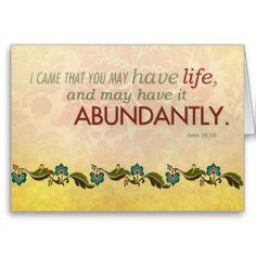 Abundant Life Greeting Notecard