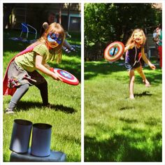Lots of great ideas for a superhero party in this link
