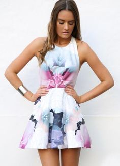 Buy Floral Print Halter Skater Dress for only  69.00. Browse the UsTrendy  catalog for the 7adbe47d2