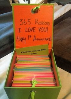 First Wedding Anniversary. 365 Reasons Why I Love You! – mehtap First Wedding Anniversary. 365 Reasons Why I Love You! First Wedding Anniversary. 365 Reasons Why I Love You! Creative Gifts For Boyfriend, Cute Boyfriend Gifts, Birthday Present For Boyfriend, Diy Gifts For Girlfriend, Diy Gifts For Mom, Boyfriend Ideas, Diy Crafts For Boyfriend, Cute Things To Do For Your Boyfriend, Presents For Your Boyfriend