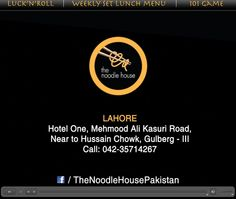 The Noodle House... Taste the Noodles with youe love one..