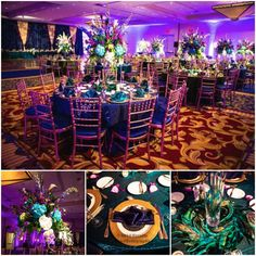 We  Tablescapes! Thanks to @ccbbcreative and #twinbrookflorals for bringing our clients Peacock Vision to life at Westfield Marriott | DC Event Planning - Favored by Yodit Events www.favoredbyyodit.com
