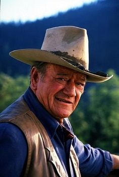 "My grandpa's hat was stained around the head band like this. He had many of the ""this is how it is, and this is who I am"" attitude of John Wayne and other cowboys, big screen or otherwise."