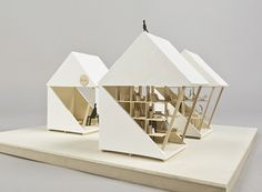 luna perschl rethinks earthquake recovery shelter with modular pocket house Kiosk Design, Booth Design, Green Architecture, Architecture Design, Architecture Diagrams, Architecture Portfolio, Origami Architecture, Chinese Architecture, Module Design