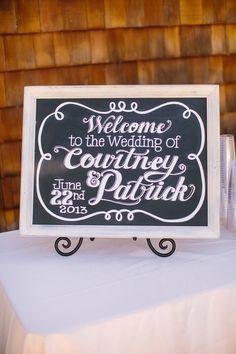 chalkboard wedding sign http://www.weddingchicks.com/2013/09/06/spanish-oaks-ranch/