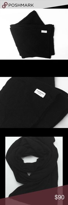 """Club Monaco black """"Carson"""" Cashmere Scarf Club Monaco, black, """"Carson"""" style,  100% cashmere, worn once, 80"""" long. Very soft and light but long enough to really cozy up! Club Monaco Accessories Scarves & Wraps"""
