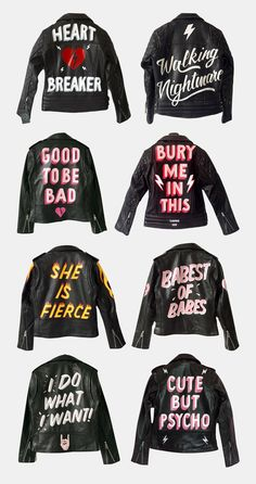 i like these leather jackets, and i want one. they're hand painted on 100% leather by London based Laurie Lee, who you can of course follow on Instagram.