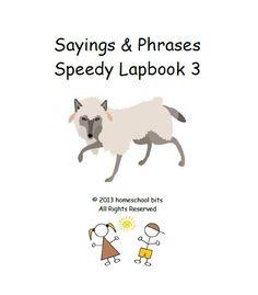 Sayings & Phrases - Speedy Lapbook 3 - homeschool bits      speedy lapbooksCurrClick