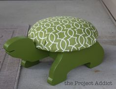 childs turtle stepstool, no instructions here to make it but I don't think it would be too hard