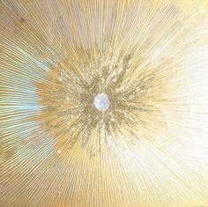 starburst - Sylvia HommertGold Aqua leaf, beeswax, holographic paper, glitter, and resin on birch panel 30 x 30 x Apollo Aesthetic, Gold Aesthetic, Le Bateleur, Sainte Cecile, Alina Starkov, The Grisha Trilogy, Greek Gods, Gods And Goddesses, Greek Mythology