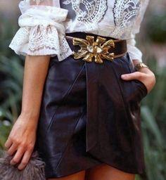 Cómo combinar la falda de cuero: Looks informales y de fiesta [FOTOS]