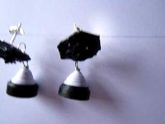 Handmade Jewelry - Quilling Jhumka (Black & White) Earrings Handmade, Handmade Jewelry, Hand Jewelry, Diy Jewelry, Quilling, Silver Jewelry, Stud Earrings, Jewels, Black And White