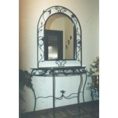 Wrought Iron Consolle Furniture. Customize Realizations. 324 Wrought Iron, Oversized Mirror, Console, Furniture, Ebay, Home Decor, Decoration Home, Room Decor, Consoles