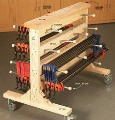 Clamp rack & outfeed support