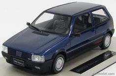TOPMARQUES TOP002E Scala 1/18 FIAT UNO TURBO ie - 1 SERIES 1986 BLUE MET