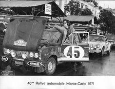 Fiat 125p Badanie techniczne po przyjeździe do Monte Carlo. Meta etapu dojazdowego. W drzwiach Piotr Mystkowski