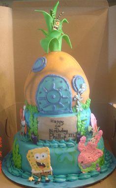 fondant squidward | Spongebob Cakes – Decoration Ideas