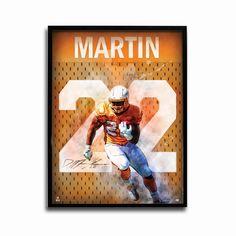 Tampa Bay Buccaneers Doug Martin Throwback 24x18 Football Poster