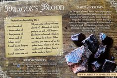 DRAGON'S BLOOD Resin . all natural .Wicca. Pagan. Spiritual. Manifesting. Healing. Incense. power, spell, witch Courtesy of www.whitewitchparlour.com