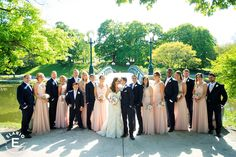spring wedding, pink bridesmaid dress, lace wedding dress, bridal party, wedding, bride and groom, dog in wedding #weddings