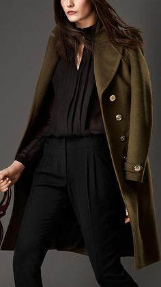 Burberry London Wool Cashmere Military Coat